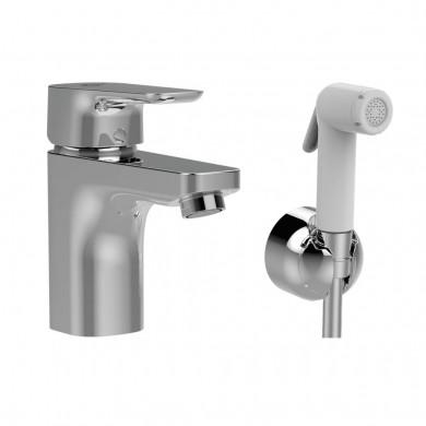 Стоящ смесител за умивалник Grande с хигиеничен душ Ceraplan III B0919AA