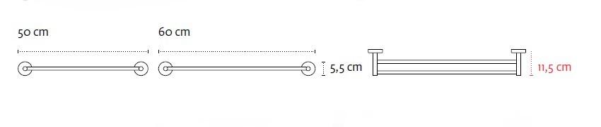 Двоен хавлийник 50см Uno 1252