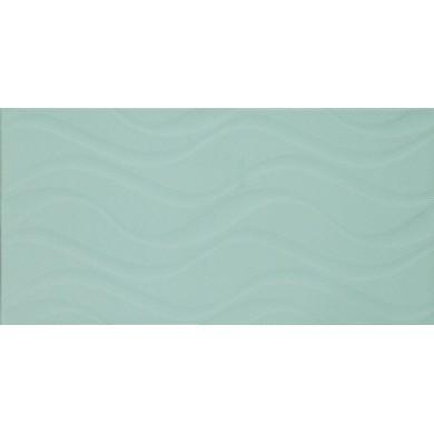 Фаянс 25х50 Изола вълни зелена