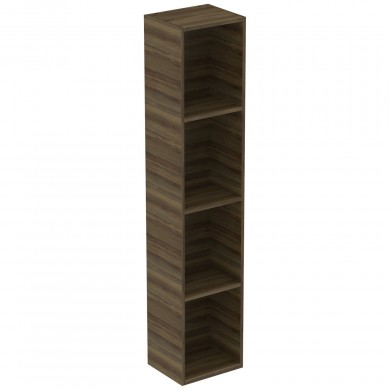 Шкаф-колона без врата Adapto T4308PA тъмен орех