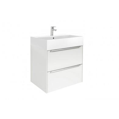 Шкаф за баня Inspira 60см, бял гланц, с две чекмеджета и умивалник А851075806