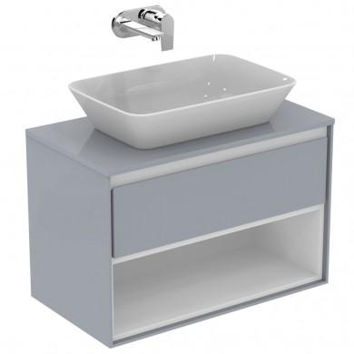 Шкаф за мивка 80см светлосив лак+бял лак Connect Air E0827EQ