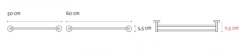 Двоен хавлийник 60см Uno 1262