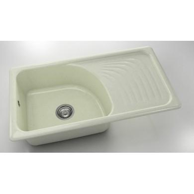 Кухненска мивка с десен плот 90х49см от граниксит205