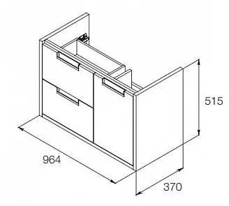 Долен шкаф с мивка Etna 100см бял A851614806