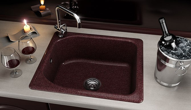 Единична мивка 60х51 см от граниксит 210