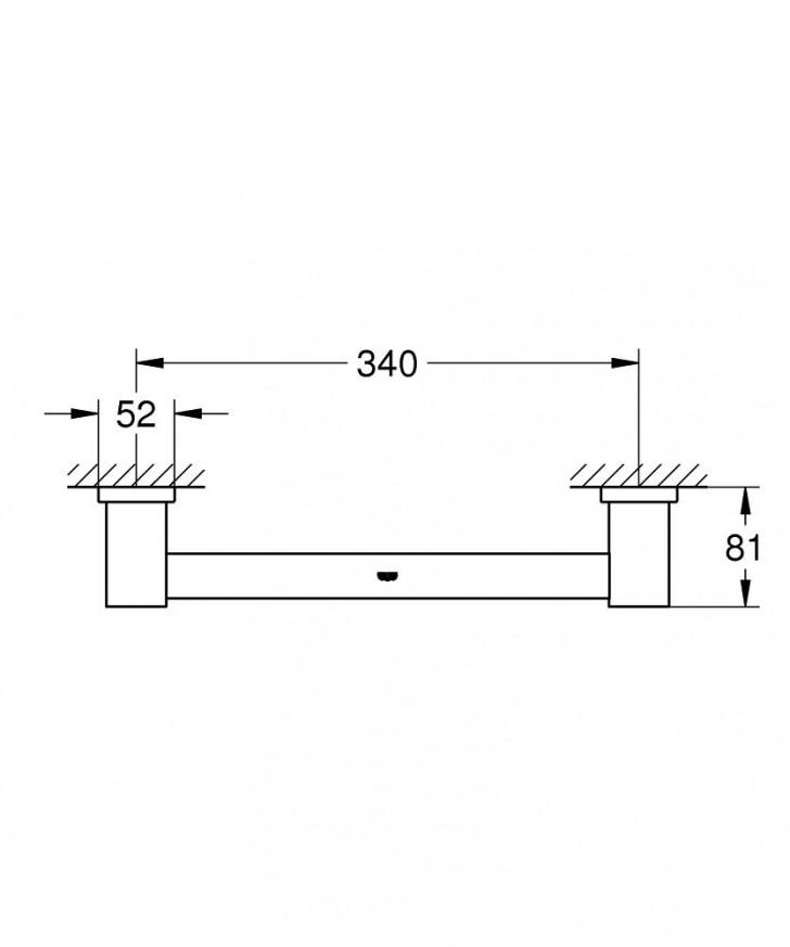 Държач за вана Essentials Cube хром 40514001