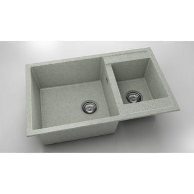Кухненска мивка с две корита 80х49см от граниксит 233
