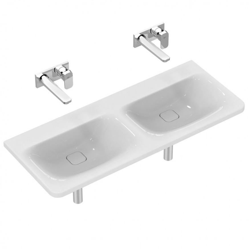 Мивка двойна за мебел Tonic II 122 cm без отвор за смесител K087101