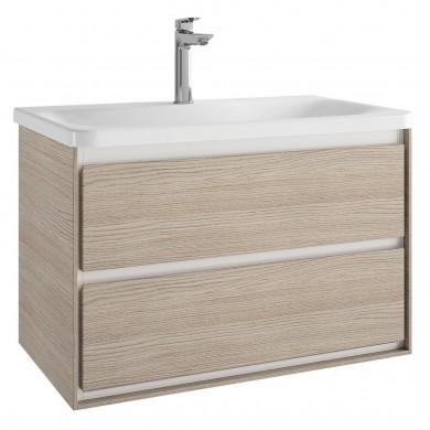 Шкаф за мивка 80 см Connect Air светлокафяво дърво + светлокафяв лак мат E0819UK