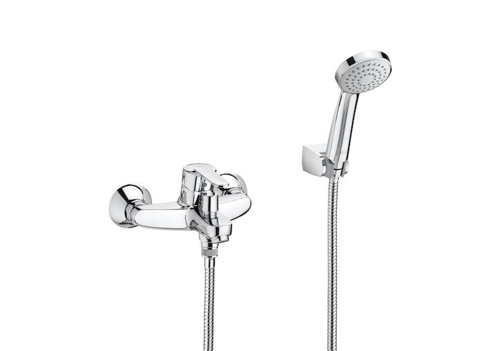 Външен смесител за вана-душ Victoria с автоматичен превключвател и аксесоари A5A0125C02