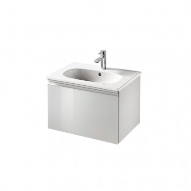 Шкаф за мивка 60 см Tesi светлосив гланц Т0046PH