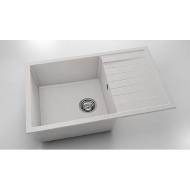 Кухненска мивка с ляв-десен плот 80х49см от фатгранитт 228