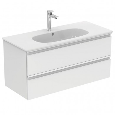 Шкаф за мивка 100 см Теsi бял гланц T0052OV