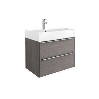 Шкаф за баня Inspira 80см, дъб, с две чекмеджета и умивалник А851076402