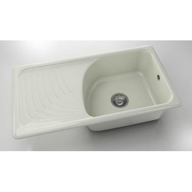 Кухненска мивка с ляв плот 90х49см от полимермрамор 203