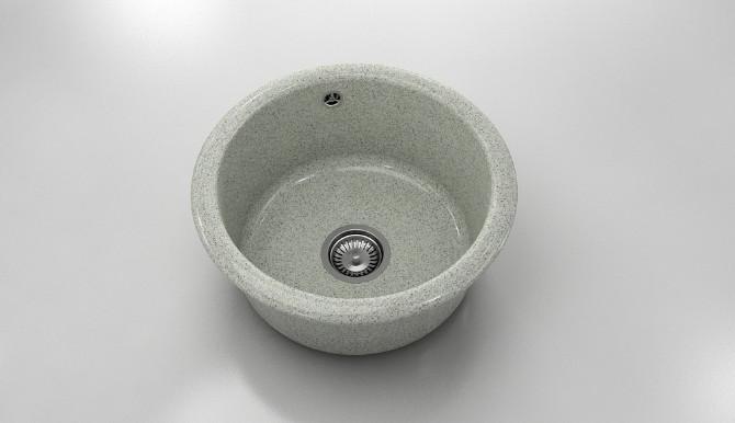 Кръгла кухненска мивка от граниксит 206