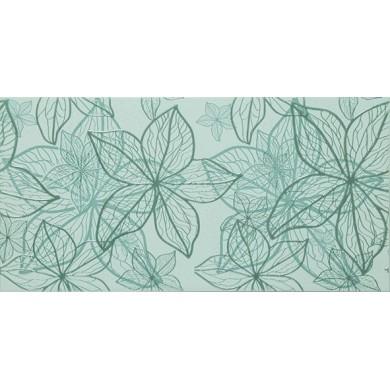 Декор 25х50 Изола цветя зелен