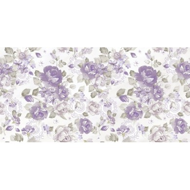 Декор 25х50 Леда лила