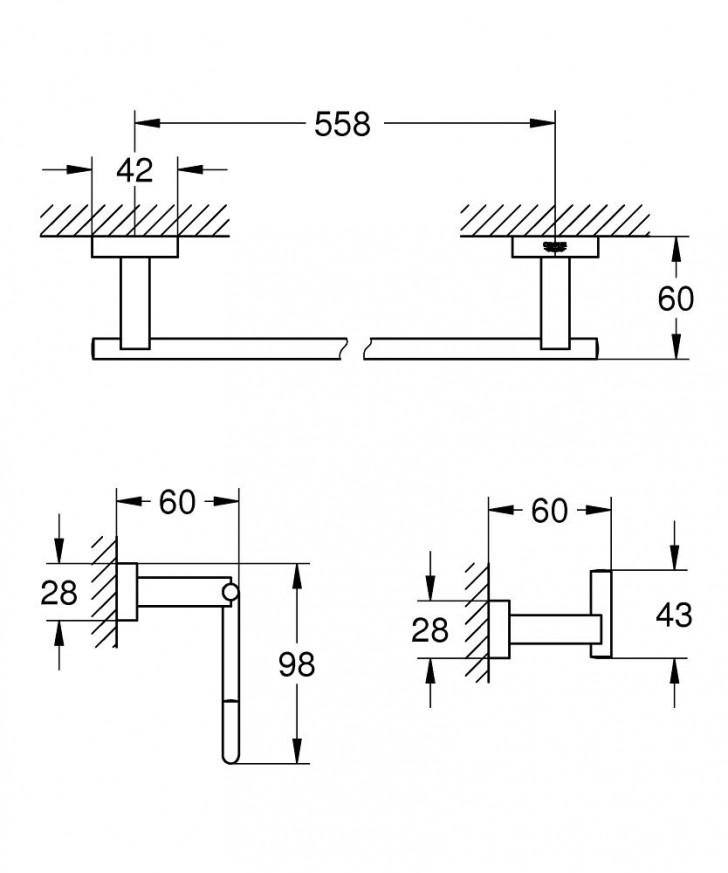 Koмплект аксесоари за баня Essentials Cube 3 в 1 40777001