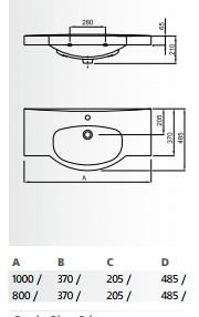 Мивка 80см Neo WQ8A43960000003