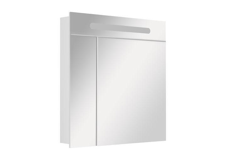 Горен шкаф с огледало Victoria nord 80см бял