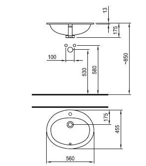 Мивка за вграждане 55см Neo 8125720001041