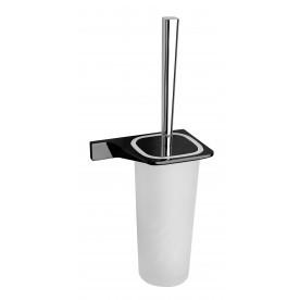 Тоалетна четка Мелания черен мат ICA 2894B
