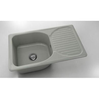 Кухненска мивка с ляв-десен плот 80х49см от полимермрамор 215