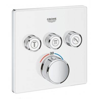 Термостат за вграждане Grohtherm SmartControl 29157LS0 moon white с 3 извода