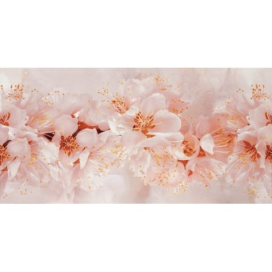 Декор 25х50 Селена череша розов