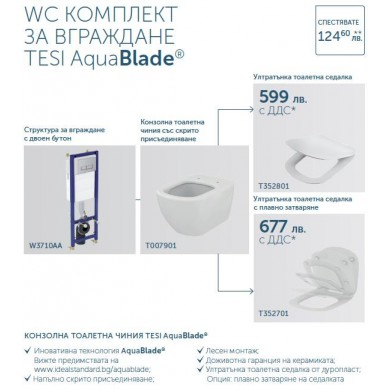 Промо комплект за вграждане Tesi Aquablade
