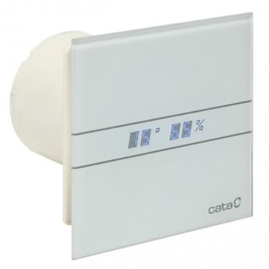 Вентилатор E100GTH Glass с датчик за влага и таймер бял