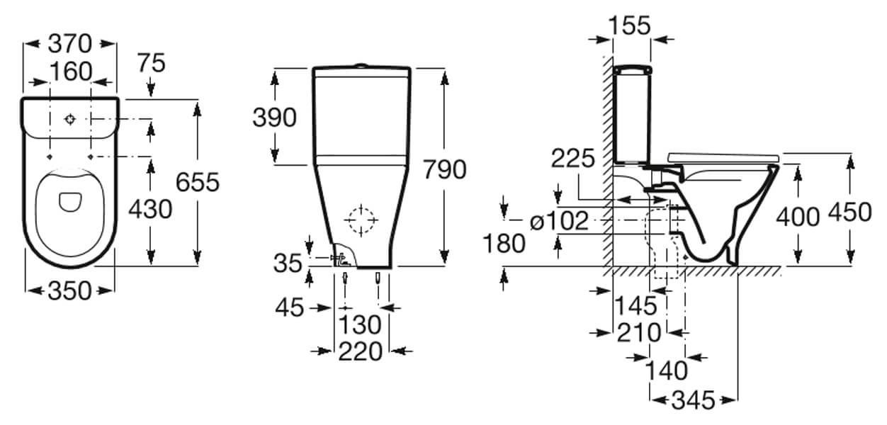 Моноблок Gap Round Rimless +EM1 електронен изпускателен механизъм
