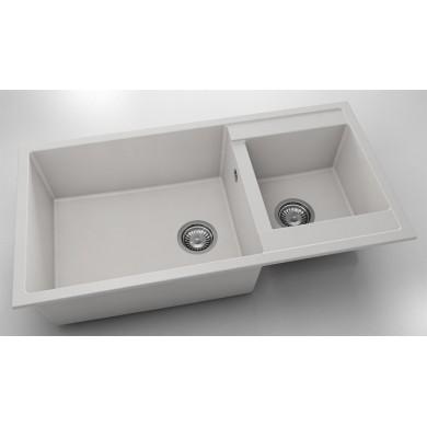 Кухненска мивка с две корита 95х49см от фатгранит 235