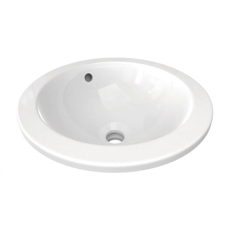 Мивка за вграждане под плот 38 см кръг Connect E505201