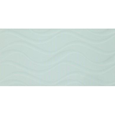 Фаянс 25х50 Изола вълни светло зелена