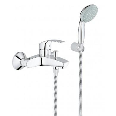 Смесител за вана Eurosmart хром с душ гарнитура 33302002