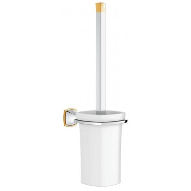 Поставка за тоалетна четка Grandera хром/злато 40632IG0