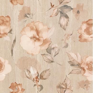 Декор 50х50 Калисто цветя бежов 2 части
