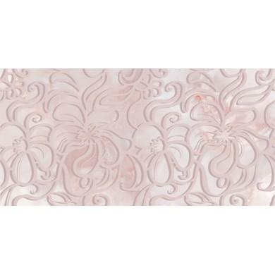 Декор 25х50 Селена дантела розов