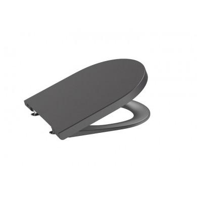 Седалка и капак Inspira Round със забавено падане цвят оникс A80152264B