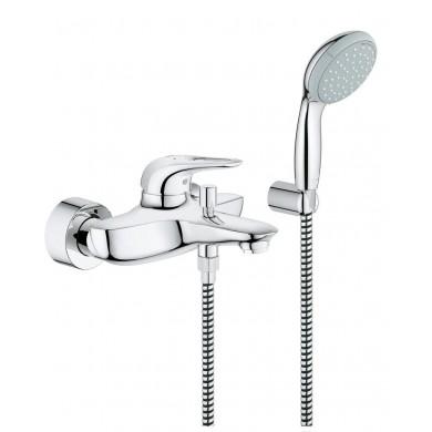 Смесител за вана Eurostyle хром с душ гарнитура 33592003
