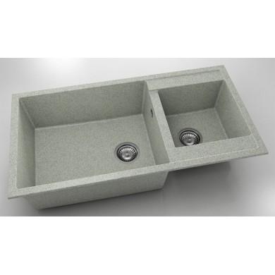 Кухненска мивка с две корита 95х49см от граниксит 235