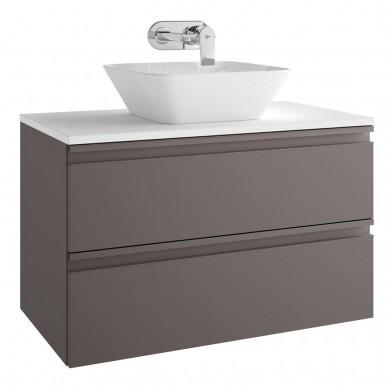 Шкаф за мивка 80 см Tesi сивокафяв мат Т0051PU