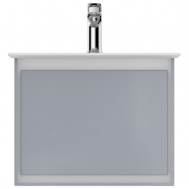 Шкаф за мивка 50 см светлосив лак+бял лак Connect Air E0817EQ
