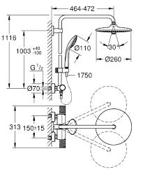 Душ система Euphoria 27296003 ф260 cooltouch