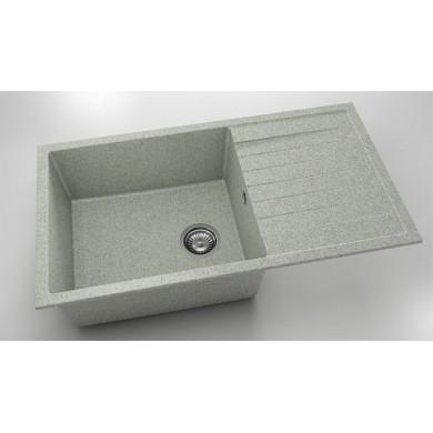 Кухненска мивка с ляв-десен плот 90х49см от граниксит 229