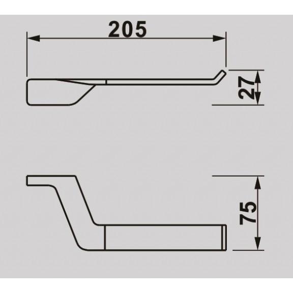 Държач за тоалетна хартия Мелания черен мат ICA 2851B