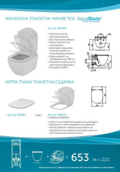 Промо комплект Tesi Aquablade